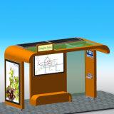カスタマイズされる通りライトボックスの太陽バス待合所を広告する