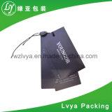Etiqueta de encargo de la caída del papel de la ropa de la impresión