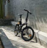 batterie détachable de bicyclette électrique en aluminium de bicyclette du pouvoir 20-Inch vert