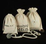 綿のキャンバスのドローストリングの結婚式の袋(CCB-1063)