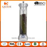 Rectifieuse de poivre remise acrylique de sel avec 3 compartiments