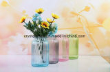 Pintura de flores coloridas vaso de vidro