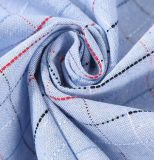 100% algodón hilado teñido Plaid rojo de un lado de Tela pulido