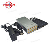 Antena 10 bloqueios para telefones celulares+GPS+Wi-Fi+Lojack 2G, 3G, 4G 4glte GSM 4gwimax Sinal Celular Portátil Jammer