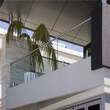 Лестница ограждения деки здание шаровой кран из закаленного стекла на поручне