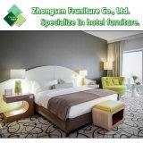 Mobilia di legno di lusso cinque stelle della camera da letto di disegno moderno di adattamento per la camera di albergo della Doubai Sofitel