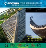 Chinois traditionnel vitrage PVC/Bamboo tuile de toit de la machine