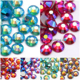 Ss8 SS20 SS30 Rose Gold Ab Vidro cristal Rhinestones Hotfix Não Strass (FB-Rose gold ab/3A)