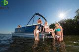 Boot van het Ponton van het Aluminium van het Dek van de luxe de Dubbele Drijvende