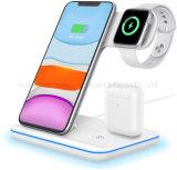 3-in-1 draadloze oplader, draadloos oplaadstation voor Apple Watch 5/4/3/2/1 en Airpods, draadloos oplaadstation Qi Fast Charger van 15 W voor Airpods PRO iPhone