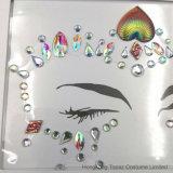 Resistente al agua Diamante CZ Joyas Sticker adhesivo de Tatuajes Temporales Tattoo máscara facial para las mujeres (SR-42)