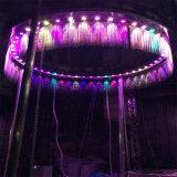 Diseño especial de luz LED de colores interiores o exteriores cortina de agua