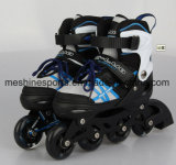 Réglage des patins à roulettes en ligne de chaussures pour enfants avec des roues