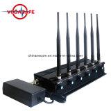 Stoorzender van het Signaal van de Telefoon van de Cel van de hoge Macht de Openlucht met Batterij, de Regelbare Stoorzender van het Signaal van de Hoge Macht Waterdichte, Blocker van het Signaal