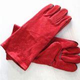 Handschoenen van het Werk van de Handschoenen van het Lassen van het Leer van de Koe van de veiligheid de Gespleten