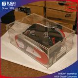 Cas d'exposition acrylique de chaussure de transparence élevée/cadres de chaussure acryliques