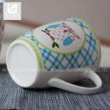 Weißes keramisches druckte eigenen Porzellan-Becher des Firmenzeichen-14oz 12oz 10oz