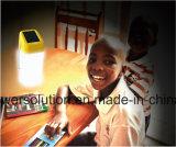 Lanterna solar leve de 360 graus para o estudo