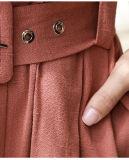 Mulheres 2017 da forma de Walson fora do Fishtail elegante quente da marinha da cor-de-rosa do plissado da garganta do barco de Wome Nlady das senhoras do ombro do vestido de partido magro longo