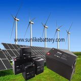 Bateria profunda acidificada ao chumbo livre da potência solar do ciclo 12V200ah da manutenção