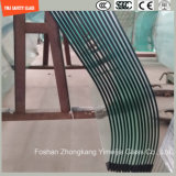 3-19mm, fil de verre de sécurité de construction, de verre plat en verre de contrecollage, Pattern/plié en verre trempé pour mur/douche/partition avec SGCC/Ce&CCC&ISO