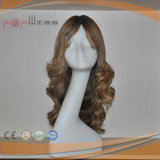 Peluca ondulada superior de seda del pelo humano (PPG-l-0463)