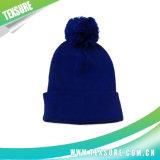 Крышка/шлемы Knit зимы сплошного цвета акриловые с шариком Pompom (104)