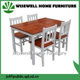 Praça Bi-Color simples mesa de jantar em madeira