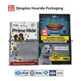 Custom imprimé gousset latéral à fond plat Stand up Pouch/chien en plastique PET Sac de l'emballage alimentaire avec fermeture à glissière