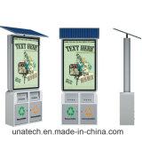 Anunciar a proteção ambiental ao ar livre do quadro de avisos solar Lixo-Pode desdobramento Lightbox do diodo emissor de luz do caixote de lixo