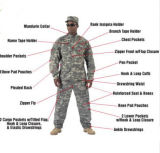 Ropa militar de alta calidad de la guardia de seguridad uniforme para los hombres