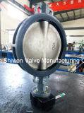 API/DIN/JIS 150lb tipo Wafer Válvula Borboleta com atuador de Marcha