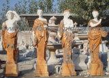 Steinmarmorskulptur-Statue für Garten-Dekoration (SY-X1760) schnitzen