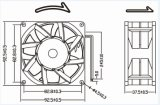 Computer-Stromversorgungen-Kühlventilator der Qualitäts-92mm 92X92X38mm