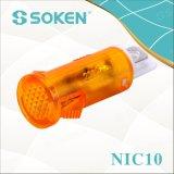 ネオンライトが付いているSoken Nic10の表示燈