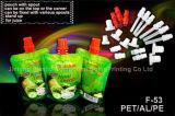 Сока питья изготовления мешок оптового раговорного жанра жидкостный, мешок пластичный упаковывать изготовленный на заказ с Spout