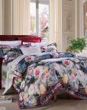 Algodón de lujo y cómodo de la materia textil/alta calidad del lecho de Poltester para el hotel/casero determinados
