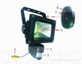 Камера датчика датчика движения 10W камеры водоустойчивой обеспеченностью напольная PIR с светом потока СИД