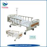 2 bases manuais inoxidáveis aluídas médicas do aço e de hospital