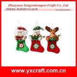 Чулок деталя рождества носка рождественской елки украшения рождества (ZY15Y036-1-2) вися