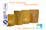 Fastfood- Papierpouch mit Window, Dry Food Packaging