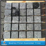 Flamed 684 Black Flower Basalt Granite Cube / Cobble / Pavé