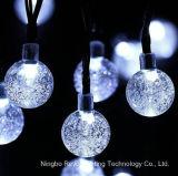 wasserdichtes Solarzeichenkette-Licht der Kristallkugel-20LED für Dekoration (RS1015)
