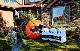 Abóbora inflável com Cute Ghost Halloween Props para Decoração de gramado