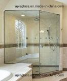 A porta do chuveiro de Frameless moderou/vidro endurecida do painel da tela com entalhe/entalhe para o quarto molhado do cerco Walk-in do chuveiro