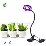 A planta do diodo emissor de luz de Dimmable cresce clara com o escritório que da braçadeira da mola a planta interna cresce a lâmpada