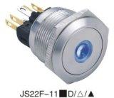 25mm Interruptor Pulsador de metal