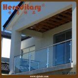 Pasamano 12m m transparente inoxidable del balcón del vidrio Tempered del acero 304 (SJ-X1024)