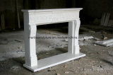 Lareira em mármore branco Carrara Sy-Mf318