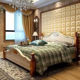 固体木のベッドの現代ダブル・ベッド(M-X2313)